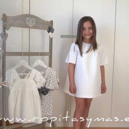 Vestido blanco piqué DRAGON-FLY de EVE CHILDREN, verano 2020
