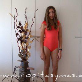 Bañador niña coral volantes ANEMONA de EVE CHILDREN, verano 2020