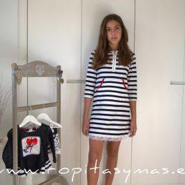 Vestido-sudadera marinero PIKNIK YOUNG&CHIC de KAULI, verano 2020