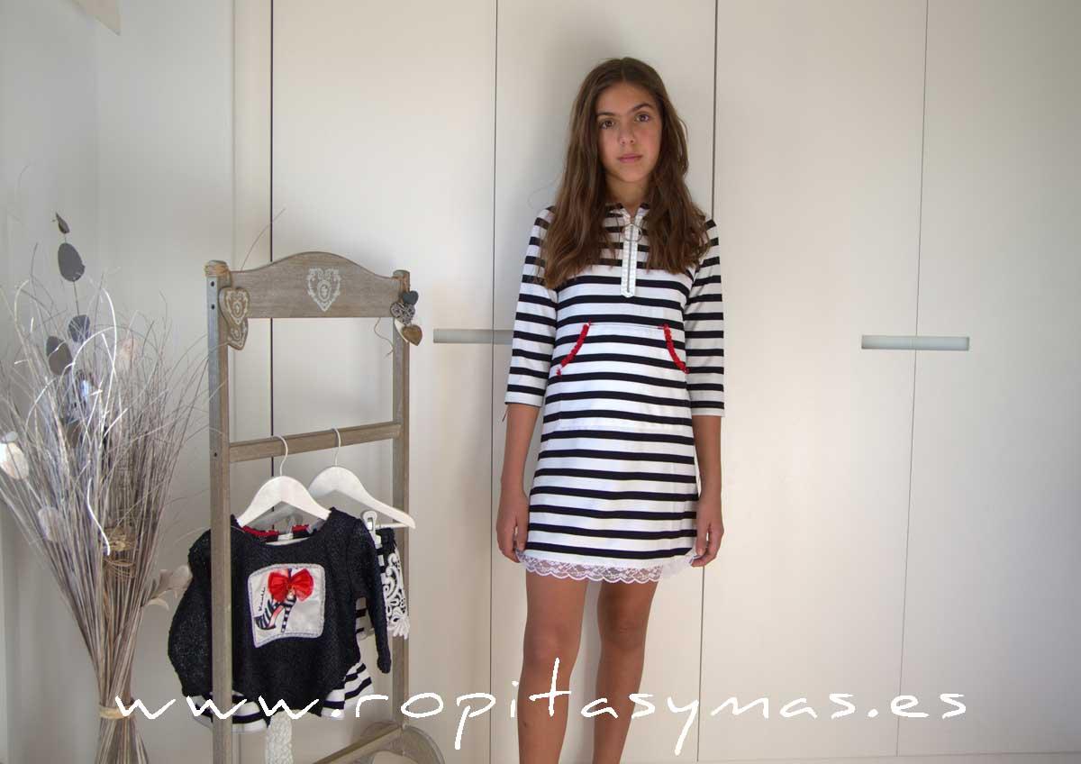 Vestido-sudadera marinero PIKNIK YOUNG&CHIC de KAULI