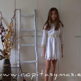 Vestido blanco perforado SAHARA de KAULI, verano 2020
