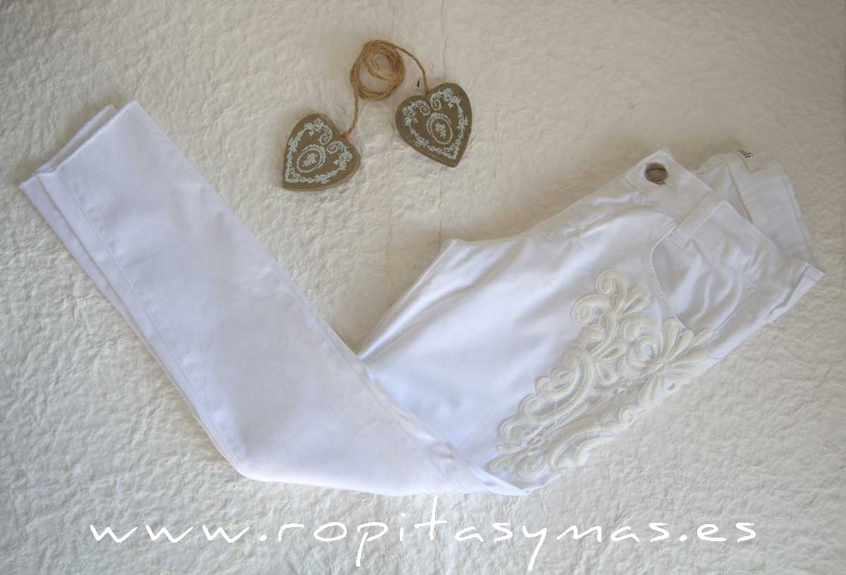 Pantalón vaquero blanco YOUNG & CHIC de KAULI