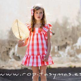 Vestido volantes CUADROTES de KIDS CHOCOLATE, verano 2020