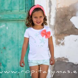 Camiseta blanca STARS de KIDS CHOCOLATE, verano 2020