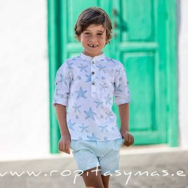 Camisa mao STARS de KIDS CHOCOLATE,  verano 2020