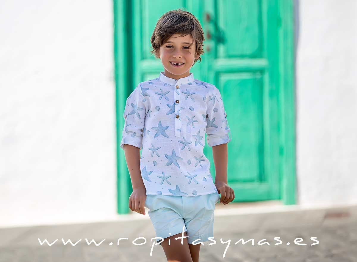Camisa mao STARS de KIDS CHOCOLATE