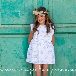 Vestido volantes STARS de KIDS CHOCOLATE, verano 2020