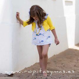 Chaqueta corta amarilla BALLENAS de KIDS CHOCOLATE, verano 2020