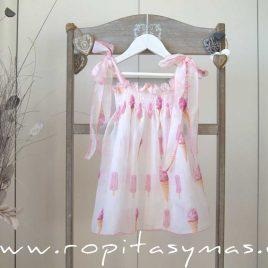 Vestido blanco VALENTINA de LE PETIT MARIETTE, verano 2020