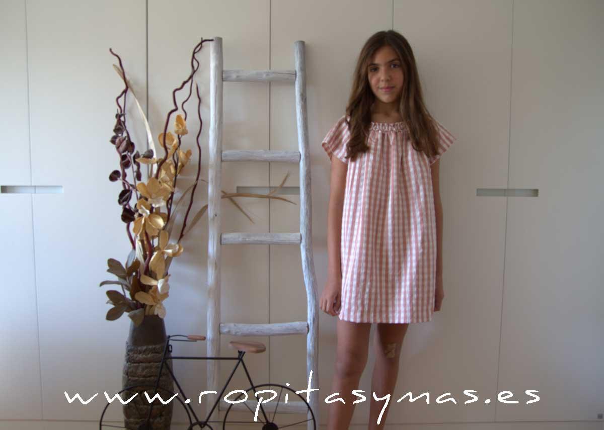 Vestido cuadros rosas MIA Y LIA