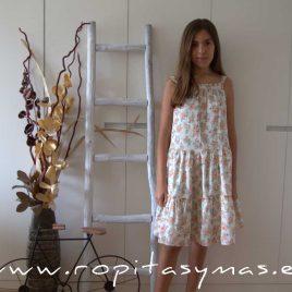 Maxi-vestido lurex y flores de MIA Y LIA, verano 2020