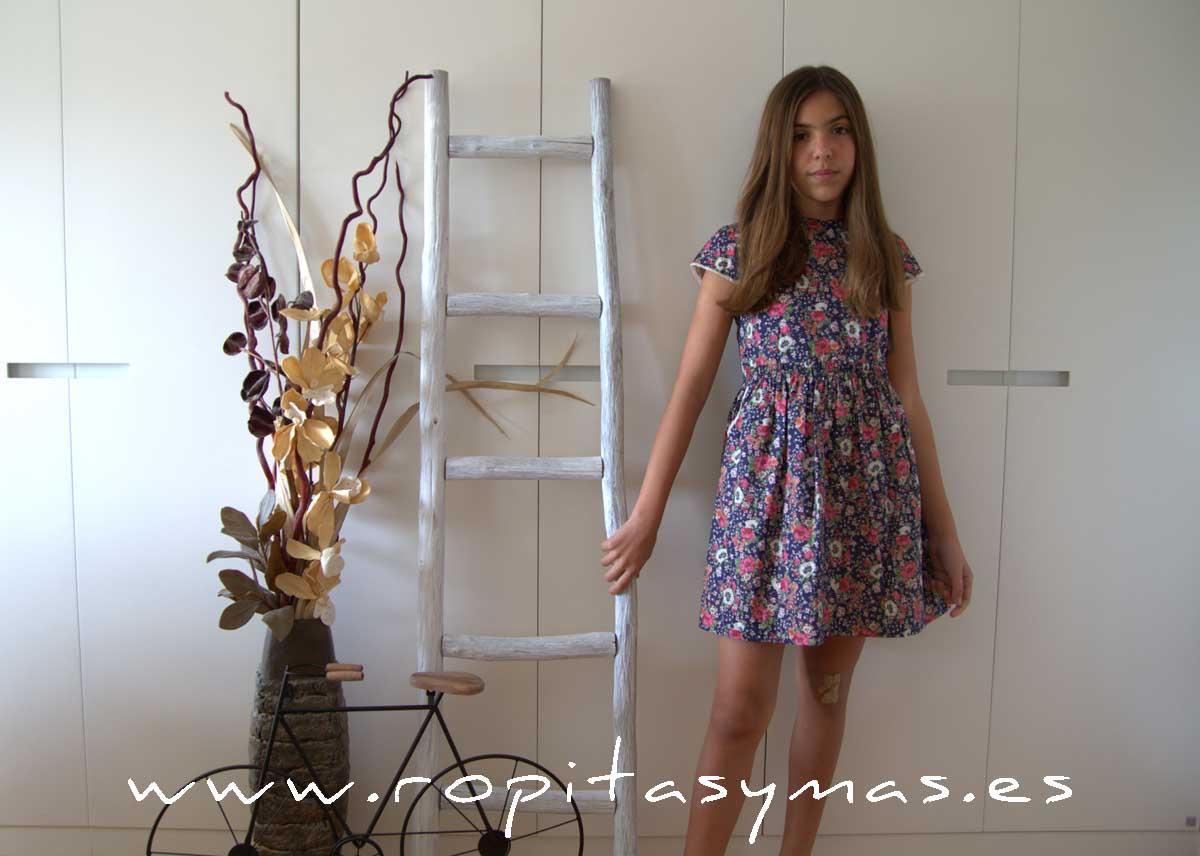 Vestido floral marino MIA Y LIA