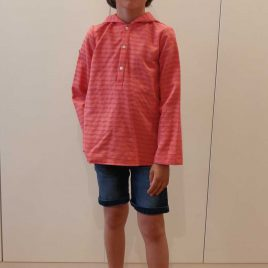 Camisa capucha fucsia rayas de MIA Y LIA, verano 2020