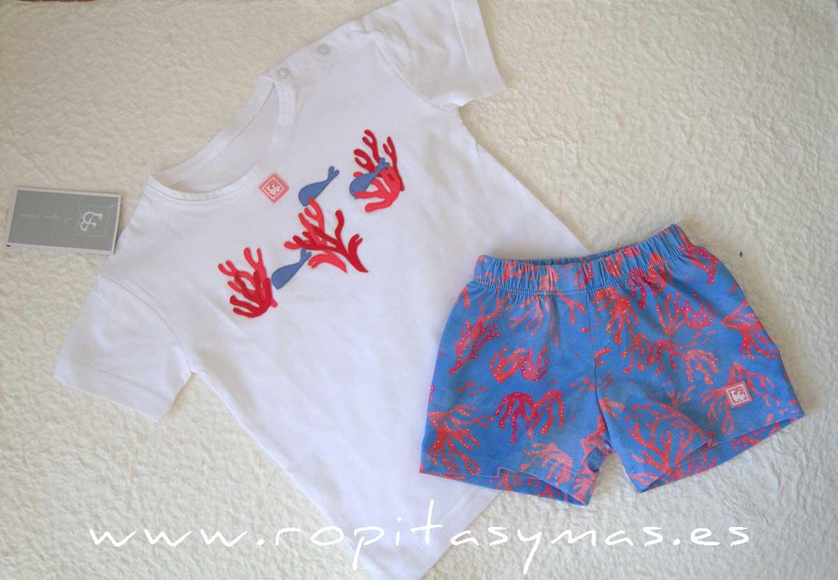 Camiseta niño CORAL de AL AGUA PATOS