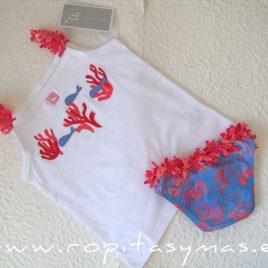 Camiseta niña CORAL de AL AGUA PATOS, verano 2020