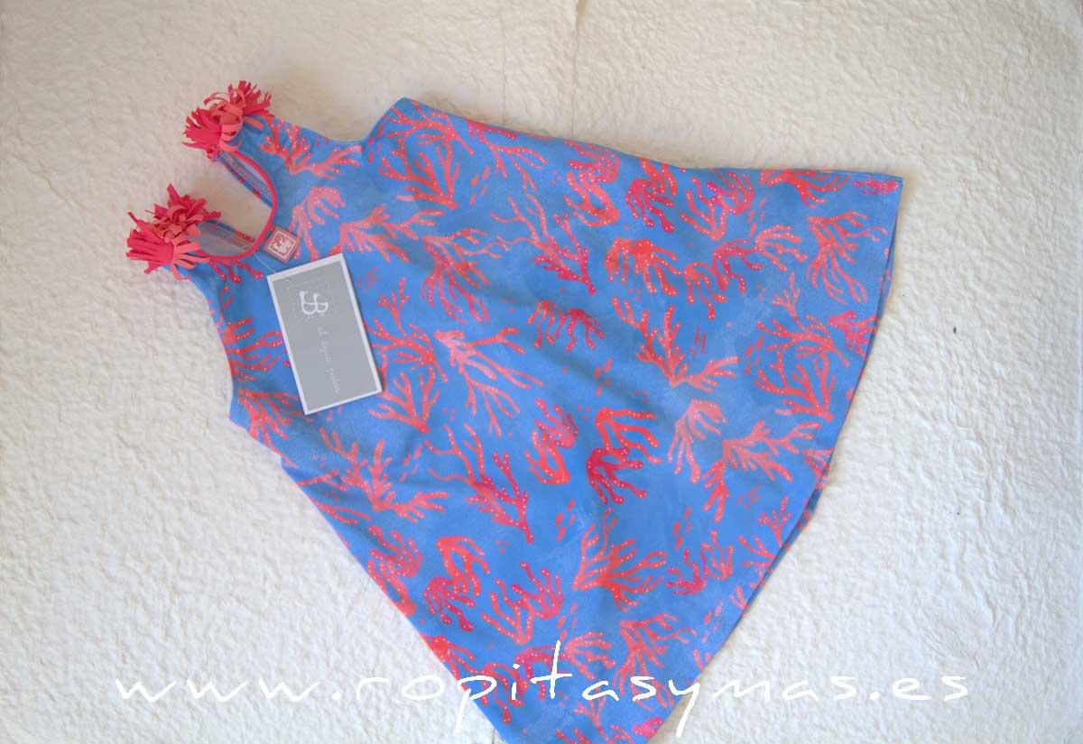 Vestido azul CORAL de AL AGUA PATOS