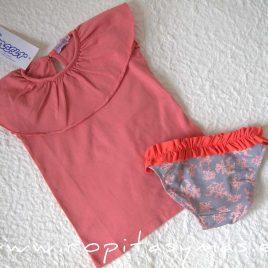 Camiseta volante coral CORALES de ANCAR verano 2020