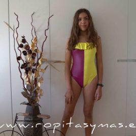 Bañador ARLEQUIN amarillo y berenjena de ANCAR, verano 2020