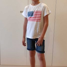 Camiseta unisex blanca USA de ANCAR, Verano 2020