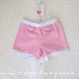 Pantalón corto rosa LYA de LE PETIT MARIETTE, verano 2020