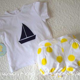 Conjunto marinero camiseta TOPOS niño PIO -PIO, verano 2020