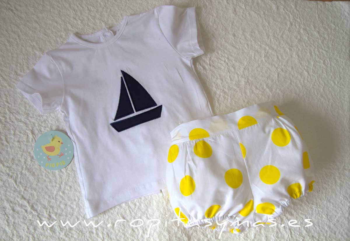 Conjunto marinero camiseta TOPOS niño PIO -PIO