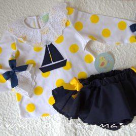 Conjunto marinero sudadera TOPOS niña PIO -PIO, verano 2020