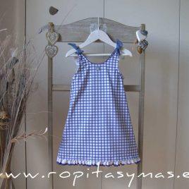 Vestido azul VICHY de AL AGUA PATOS, verano 2020