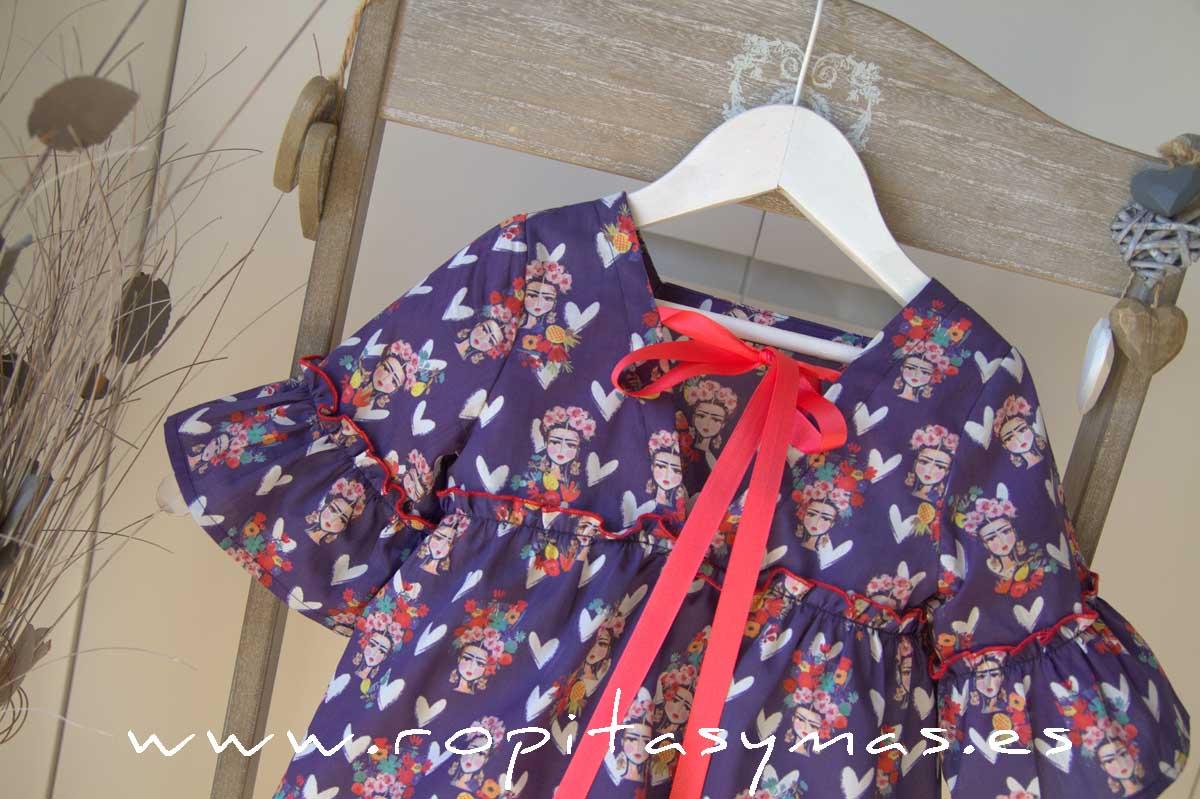 Blusón azulón FRIDA de MAMI MARÍA