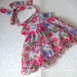 Vestido flores JARDIN de LE PETIT MARIETTE, verano 2020