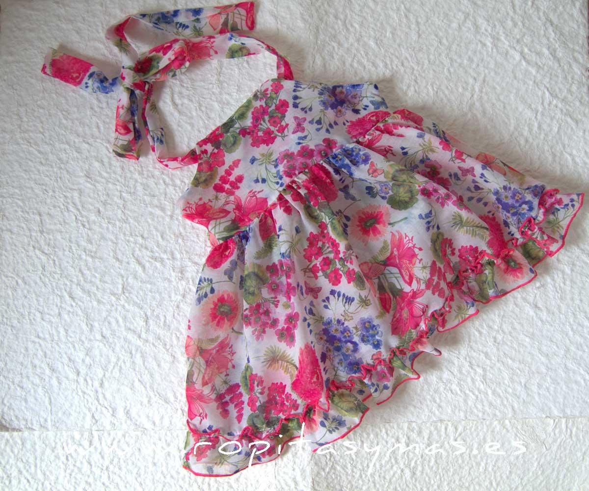 Vestido flores JARDIN de LE PETIT MARIETTE