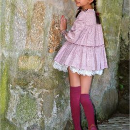 Vestido cachemira GRANATE de NOMA, invierno 2020