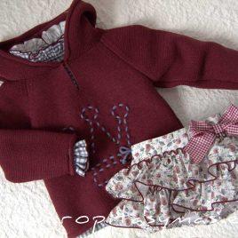 Conjunto bombacho y blusa niña IVETTE de EVA CASTRO, invierno 2020