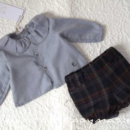 Conjunto bebe cuadros SAILOR de EVE CHILDREN, invierno 2020