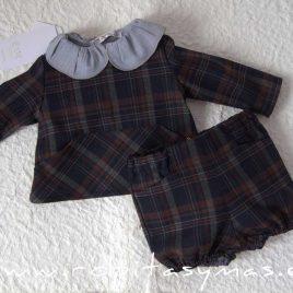 Casaca bebé cuadros SAILOR de EVE CHILDREN, invierno 2020