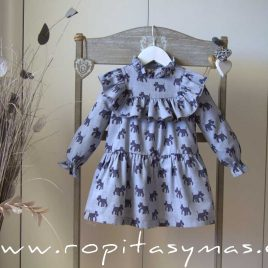Vestido perritos SAILOR de EVE CHILDREN, invierno 2020