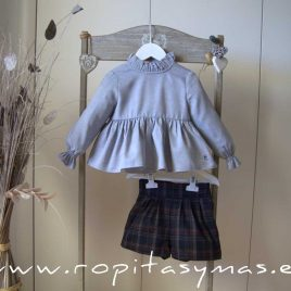 Conjunto short cuadros SAILOR de EVE CHILDREN, invierno 2020