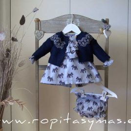Chaqueta cenefa azul SAILOR de EVE CHILDREN, invierno 2020