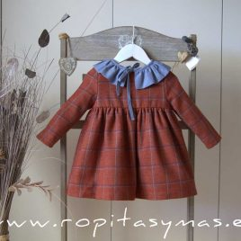 Vestido cuadros CALDERA GINGER de EVE CHILDREN, invierno 2020