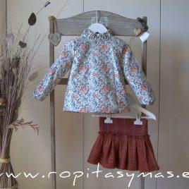 Conjunto falda cuadros CALDERA GINGER de EVE CHILDREN, invierno 2020