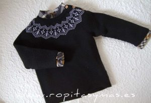 Jersey negro cenefa CASILDA de EVE CHILDREN