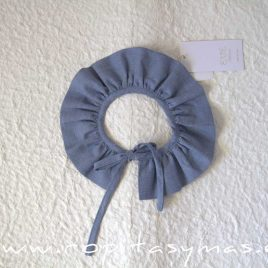 Cuello oxford azul CALDERA de EVE CHILDREN, invierno 2020
