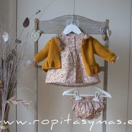 Chaqueta mostaza volante SPICY de EVE CHILDREN, invierno 2020