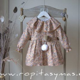 Vestido capelina liberty SPICY EVE CHILDREN, invierno 2020