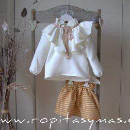 Conjunto falda rayas SPICY de EVE CHILDREN, invierno 2020