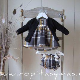 Chaqueta negra volante CASILDA de EVE CHILDREN, invierno 2020