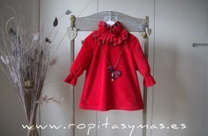 Vestido rojo SCOTISH de EVE CHILDREN
