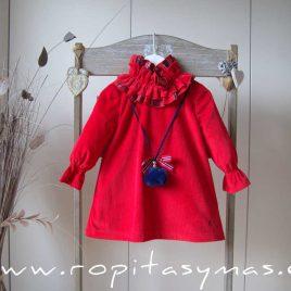 Vestido rojo SCOTISH de EVE CHILDREN, invierno 2020