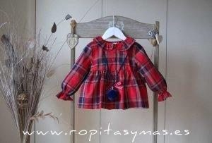Blusón rojo tartán SCOTISH de EVE CHILDREN