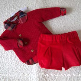 Chaqueta roja SCOTISH de EVE CHILDREN, invierno 2020